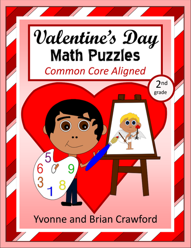 valentine 39 s day common core math puzzles 2nd grade by yvonnecrawford teaching resources tes. Black Bedroom Furniture Sets. Home Design Ideas