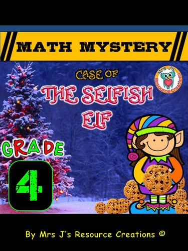 Christmas Math Mystery Activity Grade 4 By Jjresources