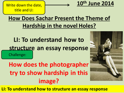 full powerpoint lessons holes by louis sachar by ncaughey  lesson 4 extended writing essay pptx