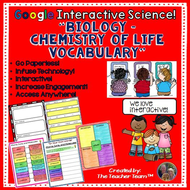 Google Drive Biology - Chemistry of Life Exercises for Google Classroom