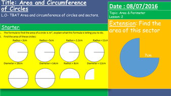 New gcse 1 9 area and perimeter of circles and simple sectors by lesson 2 area perimeter circle ccuart Images