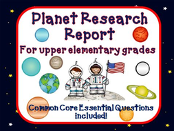 planet research report by theteacherteam teaching resources tes