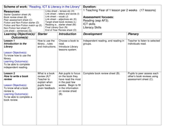 Library lesson scheme / unit of work with all resources and lesson.