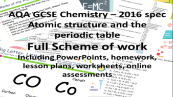 Aqa atomic structure and the periodic table full scheme of work aqa atomic structure and the periodic table full scheme of work for new gcse urtaz Choice Image