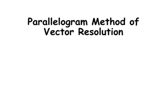 Resolving a single force into horizontal and vertical components - AQA 2016 (HT only)