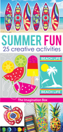 Summer Art Activity Pack: 25 colouring templates