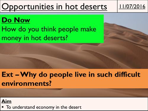 Hot Deserts Natural Resources