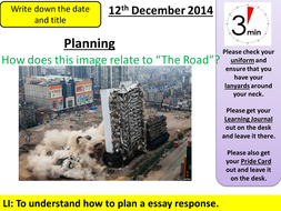 full powerpoint lessons and unit of work the road by cormac lesson 4 development planning pptx