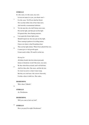 othello text with paraphrase pdf