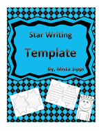 star writing template with lines by hashtag teached teaching