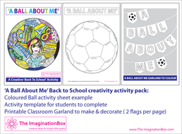 All About Me Back To School Fun Football Doodle Art Activity By