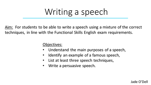 What's distinctive approximately a speech?