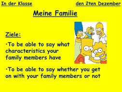 describing family characteristics ks3 german by staff mca teaching resources. Black Bedroom Furniture Sets. Home Design Ideas