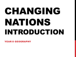 Changing Nations Introduction Year 8 Geography by