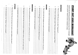 """STOMP """"OUT LOUD"""" worksheet"""