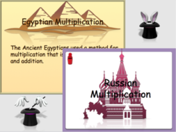 BUNDLE - Magic Numbers,Egyptian Multiplication, Russian Multiplication E3/L1/L2