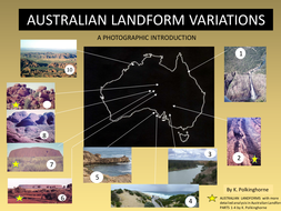 Australia Map Landforms.Landform Variations In Australia A Photograph And Map Introduction