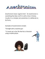 Anachronisms by gcmem - Teaching Resources - Tes