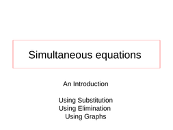 Introduction to Simultaneous Equations