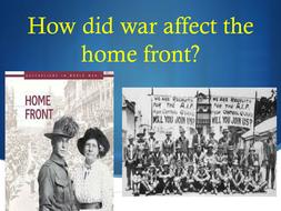 australian home front