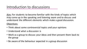 good discussion topics
