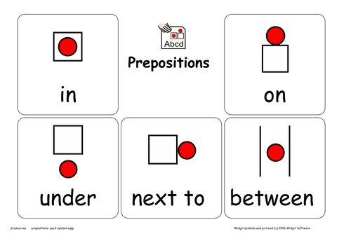 Prepositions Resource Pack Symbol Supported