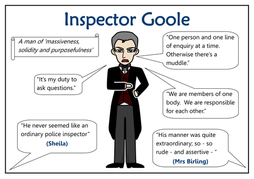 the use of arthur birling and inspector goole to convey opinions and attitudes of the author in an i Check out our top free essays on how is tension built up in an inspector calls act 3 to birling gerald croft inspector goole arthur birling: author note: this.
