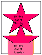 Star of the week Banners/display