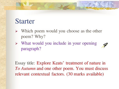 Which poet should I choose for a British Literature essay?