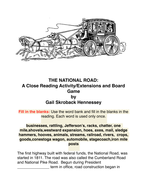 The National Road: Reading Passage/ Extension Activities/Game