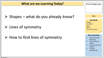 introduction to symmetry powerpoint and lesson plan primary school