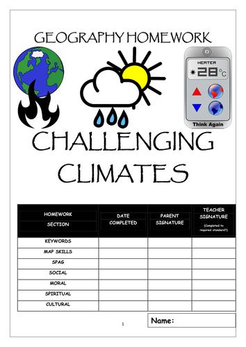 Homework booklet: CHALLENGING CLIMATES