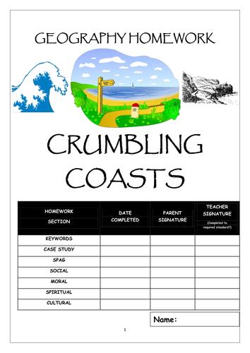 Homework booklet: CRUMBLING COASTS