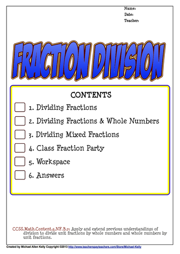 fraction division dividing fractions by thingsyouwilllearn teaching resources tes. Black Bedroom Furniture Sets. Home Design Ideas