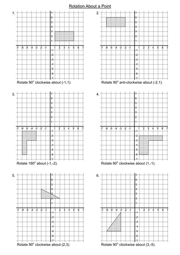 rotations on a graph axis by markebrey teaching resources tes. Black Bedroom Furniture Sets. Home Design Ideas