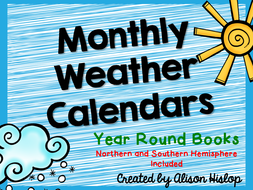 Monthly Weather Calendar Books By Alisonhislop Teaching Resources