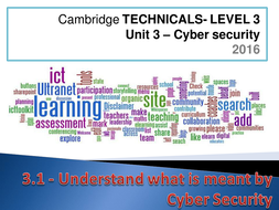 Cambridge Technicals - 2016 Specification - Unit 03 - Cyber Security