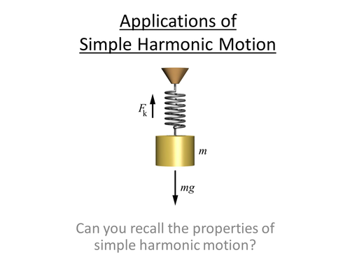 Physics A-Level Year 2 Lesson - Applications of Simple Harmonic Motion (PowerPoint/Lesson)