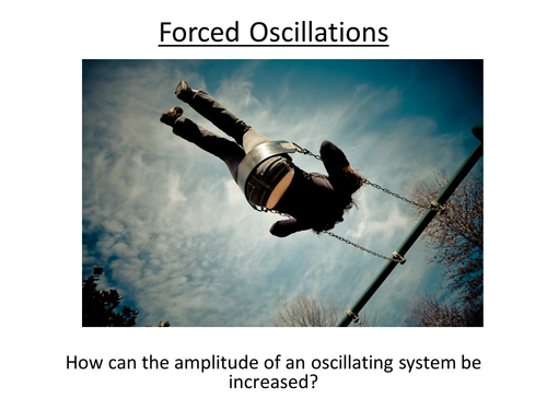 Physics A-Level Year 2 Lesson - Forced Vibrations and Resonance (PowerPoint AND Lesson)
