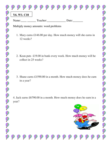 4 multiplication worksheets for ks2 by simranvirus123 uk teaching resources tes. Black Bedroom Furniture Sets. Home Design Ideas