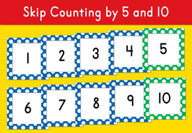 Skip Counting by 5 and 10 1-100 (number cards) by Kiwilander ...