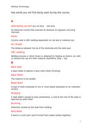 Common welding Key Words