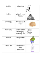 spelling of words with silent letters