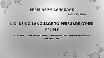 Persuasive Language ppt