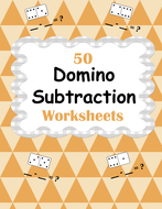 Domino Math Worksheets: Subtraction by bios444 - Teaching Resources ...