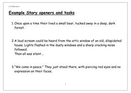interesting story openers