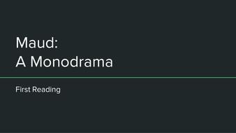 maud a monodrama