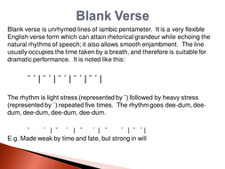 Blank-Verse--Metre-and-Rhythm.ppt