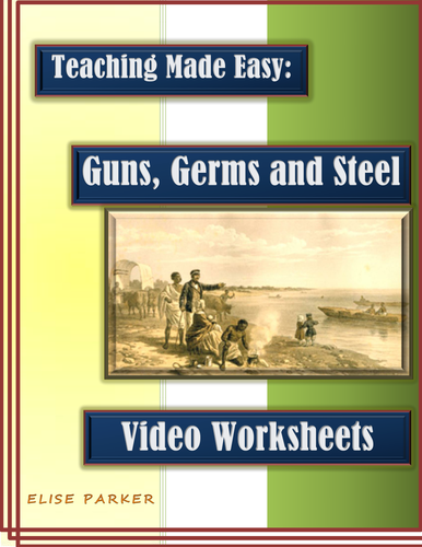 guns germs and steel video worksheets pdf printable version by mesquitequail us teacher. Black Bedroom Furniture Sets. Home Design Ideas