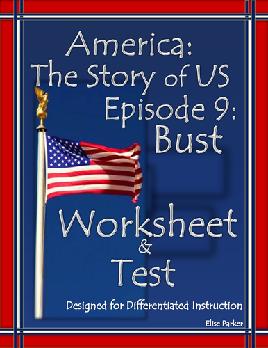 america the story of us episode 9 quiz and worksheet bust by mesquitequail us teacher lessons. Black Bedroom Furniture Sets. Home Design Ideas